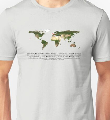 Cabin Pressure Locations Map Unisex T-Shirt