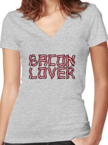 Bacon Lover Women's Fitted V-Neck T-Shirt
