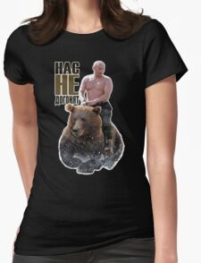 PUTIN riding a bear Womens Fitted T-Shirt