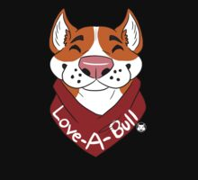Love-A-Bull Rednose tshirt by LilHoneyPup
