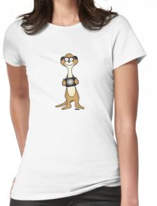 Meerkat Photographer Womens Fitted T-Shirt