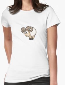 Funny Aries Sheep Womens Fitted T-Shirt
