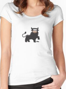Cute Bull Women's Fitted Scoop T-Shirt