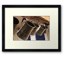 The George & Dragon - Tankards Framed Print