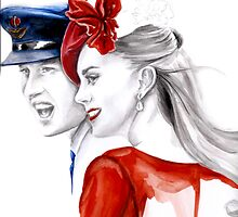 Prince William and Kate Middleton by Elina Sheripova by Elina Sheripova