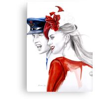 Prince William and Kate Middleton by Elina Sheripova Metal Print