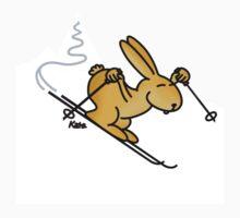 Skiing Bunny One Piece - Short Sleeve