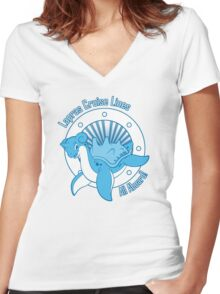 Lapras Cruise Lines Women's Fitted V-Neck T-Shirt