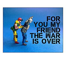 For you my friend the war is over... Photographic Print