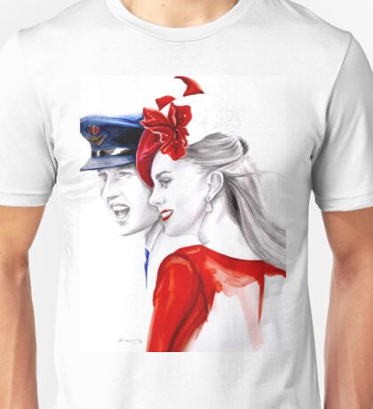 Prince William and Kate Middleton by Elina Sheripova Unisex T-Shirt