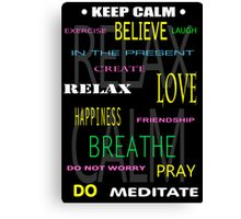 KEEP CALM DIY THERAPY PANEL Canvas Print