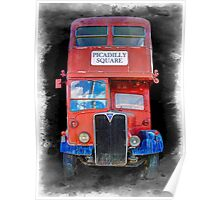 LONDON VINTAGE DOUBLE DECKER BUS Poster