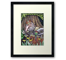 Sleeping Dwarf Framed Print