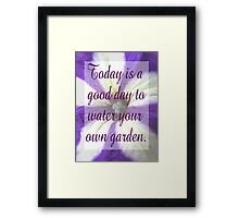 Saying 44 Framed Print