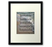 Saying 48 Framed Print