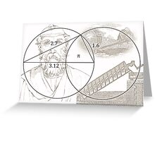 ARCHIMEDES and his PI CONSTANT Greeting Card