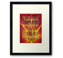 Saying 53 Framed Print