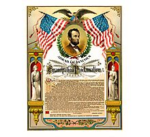ABE LINCOLN's EMANCIPATION PROCLAMATION Photographic Print
