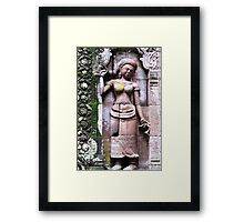 Woman in Stone  Framed Print