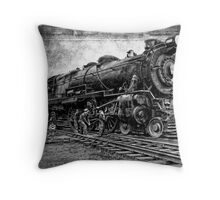 LOCOMOTIVE NO. 3863 in for REPAIRS Throw Pillow