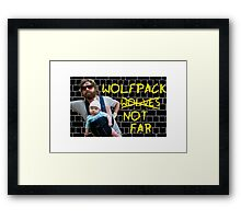 Wolfpack not far Framed Print