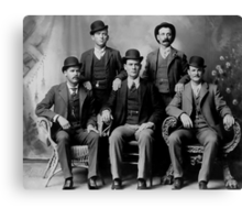 WILD BUNCH GANG of the OLD WEST c. 1900 Canvas Print