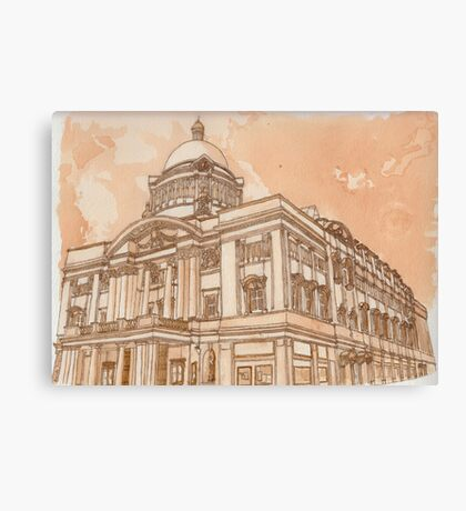Hull City Hall (In Tea and Coffee) Canvas Print