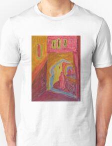 Atlas Travel Desert Caravan 2 village t shirt T-Shirt
