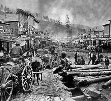SOUTH DAKOTA's DEADWOOD CITY c. 1876 by Daniel-Hagerman