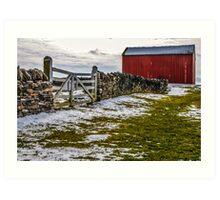 Shakertown Red Barn Art Print