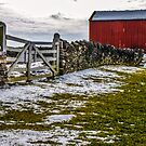 Shakertown Red Barn by Mary Carol Story