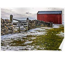Shakertown Red Barn Poster