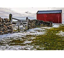 Shakertown Red Barn Photographic Print