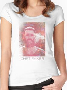 Chet Faker Women's Fitted Scoop T-Shirt