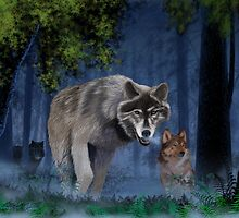 Wolves in the mist number 1 by larryr33