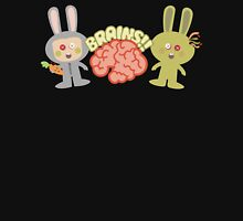 cute kawaii zombie bunny rabbit brains Womens Fitted T-Shirt