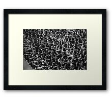 DISOBEYING Framed Print