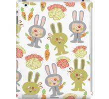 cute kawaii zombie bunny rabbit brains iPad Case/Skin
