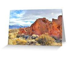 Red Rocks And Sand Greeting Card