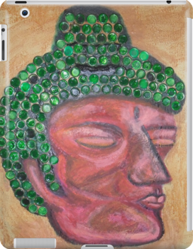 Ethnic collection 2 tablet, ipad case buda head by AnaCanas