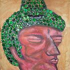 Ethnic collection 2 posters,prints and cards case buda head by AnaCanas