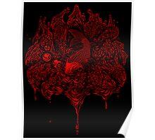 Red Koi's Kiss Poster