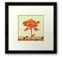 A Single Rose in My Garden Framed Print
