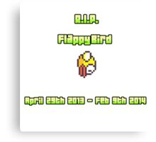 RIP Flappy Bird Canvas Print