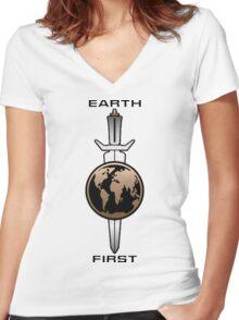 Star Trek - Mirror Universe Terran Empire Women's Fitted V-Neck T-Shirt