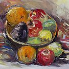 Bowl of Winter Fruit by TerrillWelch