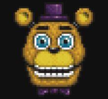 Adventure Fredbear - FNAF World - Pixel Art Baby Tee