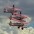 AeroSuperBatics' Stearmans with wingwalkers at Flying Legends by Colin Smedley