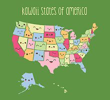 Kawaii States of America by fishbiscuit