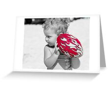 red challenge Greeting Card